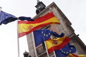 bandera  españa y europa