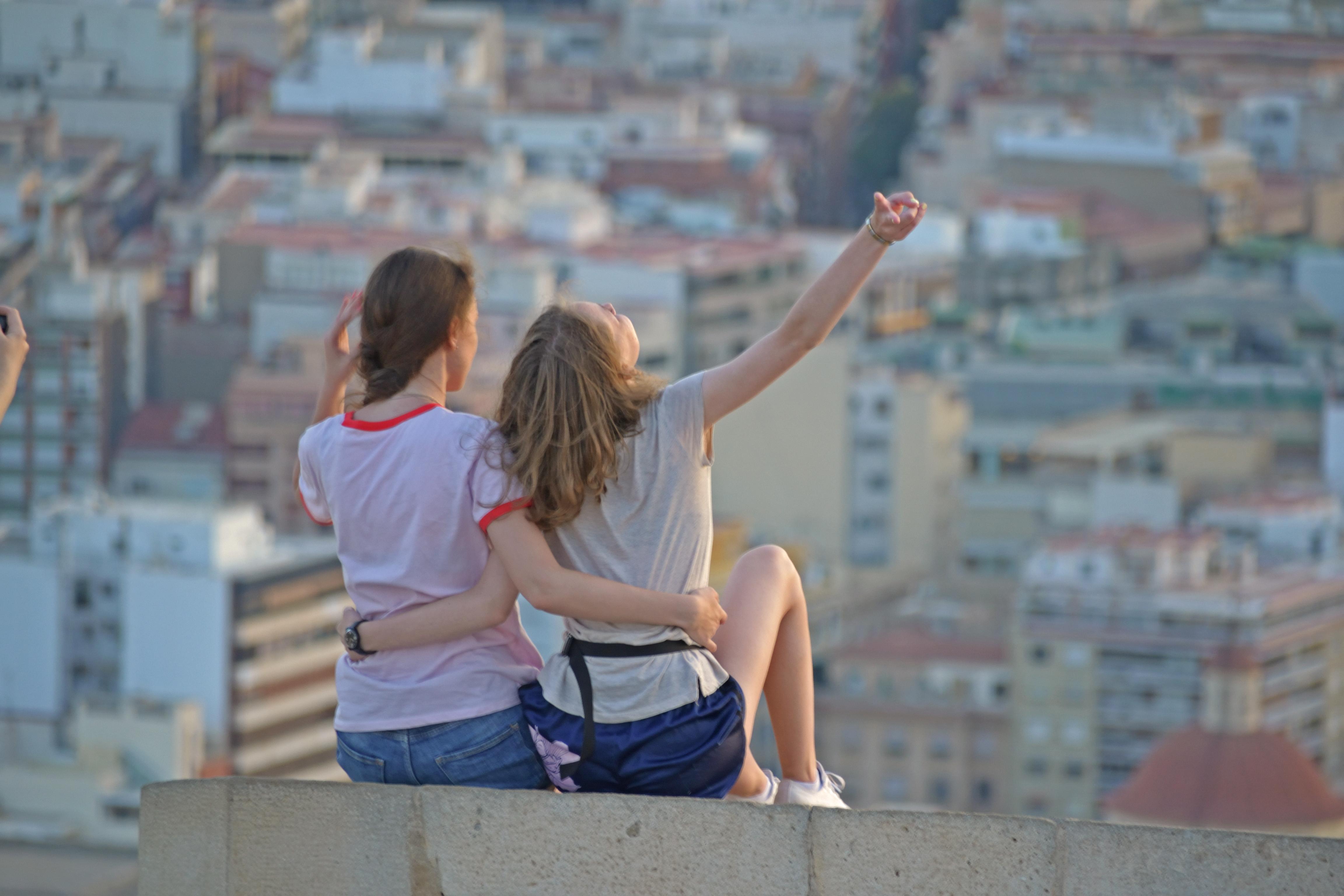 Estudiantes de español - Puesta del Sol