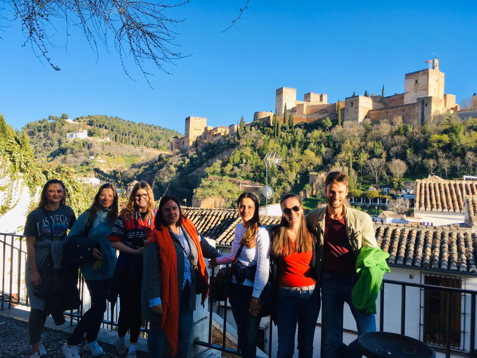 Students in the Alhambra